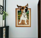 Removable Happy Dog Listening Music Wall Sticker Mural Wall Decal Home Decor Eh