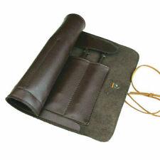 Koch Messertasche 5 Fächer Rolltasche Küchenmesser Tasche Messerkoffer Leder DE