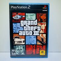 GRAND THEFT AUTO III PS2 PLAYSTATION 2 COMPLETE GAME - Tested - Fast Shipping