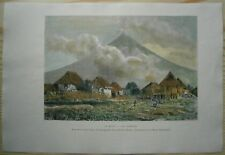 1889 Reclus print MAYON VOLCANO, SOUTHEASTERN LUZON, PHILIPPINES (#41)