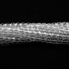 Crystal Clear - 50 4mm Transparent Czech Glass Fire Polish Beads