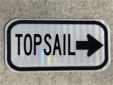 "TOPSAIL NC road sign 12""x6"" - DOT style - Surf City beach Atlantic ocean waves"
