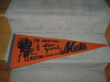 1969 New York Mets National League Champions Orange Pennant Full Size Mr. Met