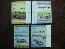 St. Vincent Grenadinen, 4 Zusammendrucke Autos postfrisch
