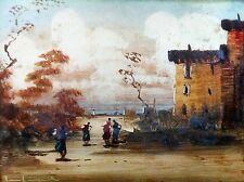 LUCIO CARGNEL (1903-1998), Oil, Impressionist Landscape , Lovely frame, Signed