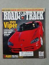 Road & Track Magazine May 2001 - Mercedes-Benz C-Class - 2003 Dodge Viper