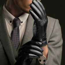 Leather Full Finger Mens Motorcycle Driving Winter Warm Touch Screen Gloves US