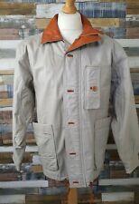 Mens Vintage Grey Leather Jacket Size 42