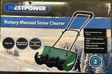 More details for  rotary snow clearer thrower push path / drive ways winter