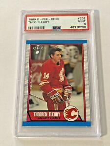 Theo Fleury 1989-90 O-Pee-Chee Rookie Card #232 PSA 9 Mint Calgary Flames