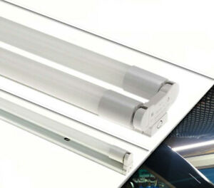 LED TUBE FLUORESCENT LIGHT BATTEN FITTING SINGLE OR DOUBLE 2FT,3FT,4FT,5FT,6FT