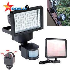 SOLAR POWERED LED SECURITY WALL LIGHT SPOTLIGHT PIR SENSOR OUTDOOR GARDEN LAMP