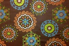 "RICHLOOM ARIAL CHOCOLATE FLORAL MEDALLION JACQUARD FABRIC BY THE YARD 58""W"