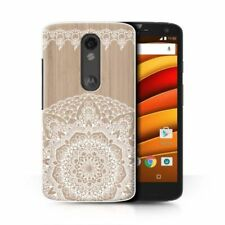 Housses et coques anti-chocs en bois, bambou pour téléphone mobile et assistant personnel (PDA) Motorola