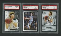 🌟2018 Lamelo Ball Leaf Premier/National/Silver Rookie 1st Graded 10 RC Card Lot