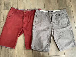 Mens Summer Shorts X2 Pairs Size 32 Waist