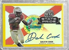 2017 Leaf Metal DALVIN COOK State Pride Gold Prismatic Auto RC 1/1 Vikings RB