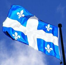 QUEBEC CANADA FLAG NEW 3x5 ft CANADIAN better quality usa seller