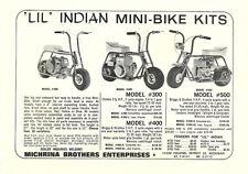 Vintage & Rare 1965 Lil Indian Models 300, 400 & 500 Mini-Bike Ad