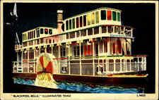 Blackpool Belle AK 1950 Schiff Ship Raddampfer Paddle Steamer Dampfer gelaufen