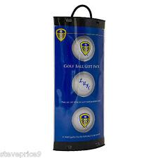 3 Leeds United Football Club Crested Golf Balls