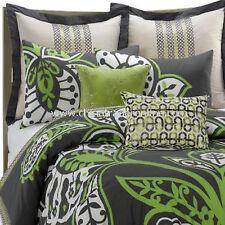 CLOSEOUT 3 Pc. KAS TJANDRA Green Gray Twin Comforter Standard & Euro Shams NIP