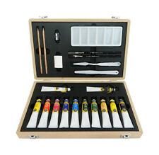 WINSOR & NEWTON GALERIA Acrilico GRANDE IN LEGNO ART Box