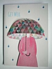 PAPER MAGIC ~ BLUE GEMS RAINY DAY GET WELL GREETING CARD + ENVELOPE