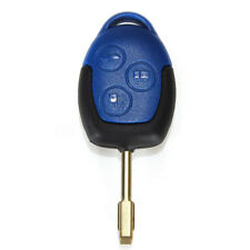 3 BUTTON CONNECT CAR REMOTE KEY FOB CASE SHELL FOR FORD TRANSIT WITH BLADE BLUE