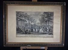 """Gravure estampe ancienne XIXème """"La promenade des remparts de Paris"""""""