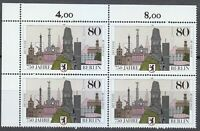 Germany 1987 MNH Mi 1306 Sc 1496 Buildings.Berlin, 750th Annivers.Block of 4 **