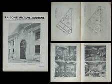 CONSTRUCTION MODERNE 1936 CHAMBRE COMMERCE POITIERS, VENEUX LES SABLONS, PARIS