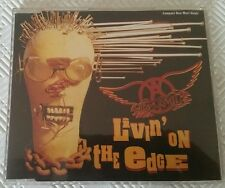 AEROSMITH LIVIN' ON THE EDGE MAXI-SINGLE GED 21790 MADE IN GERMANY 1993