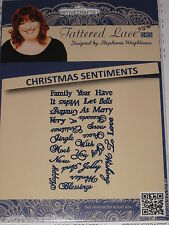 "RETIRED - TATTERED LACE DIES ""CHRISTMAS SENTIMENTS"" TTLD096 WORDS FOR CARDS"