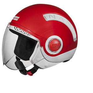 New STUDDS Nano 560 Open Face Helmet White Red Color- small size