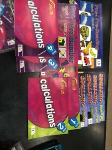 12 books Educational Learning ladder Spelling, calculations, reading