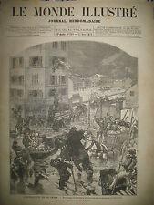 ALFORTVILLE CRUE INONDATION DE LA SEINE DE PARIS A ROUEN POMPES GRAVURES 1876