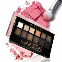 12 Farben Matte Schimmer Palette Lidschatten + Pinsel Beauty Set Make-up G5B7