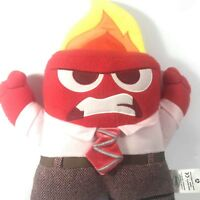 """Disney Pixar Inside Out ANGER 13"""" Plush ANGRY RED w/ Flame Head Pillow Stuffed"""