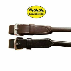 Kavalkade Rolled Leather Balance / Grab Strap for Saddle, Buckle Fastening