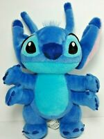 "Disney Parks Authentic Stitch 11"" Plush LILO & STITCH 4 arms blue and aqua"