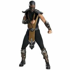 Mortal Kombat Scorpion Deluxe Adult Mens Fancy Dress Costume Halloween Outfit O
