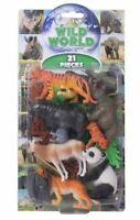 Natural World Wild Animals Plastic Figures Model Zoo Toys 21 Piece