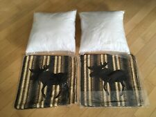 """2-CANYON MOOSE ACCENT PILLOW : 18"""" BROWN BLACK CABIN LODGE RUSTIC CUSHION"""