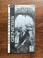 Ecco Tides of Time Sega Genesis Game Instruction Manual Only