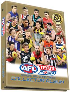 2020 AFL TEAMCOACH COMPLETE FULL 234 GOLD CARDS SET + ALBUM TEAM COACH