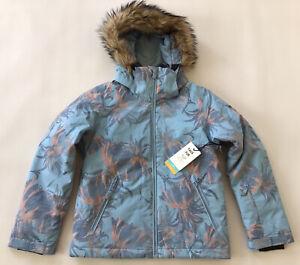 $139 Roxy Girl's American Pie 10K Snowboard Jacket Winter Faux Fur Size 10/M