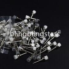 100 Pcs Dental Polishing Brush Prophy White Nylon Bowl Shape Cup Latch Flat Type