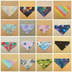 Handmade Dog Bandana Slide on Collar Neckerchief Scarf Present 1st class postage
