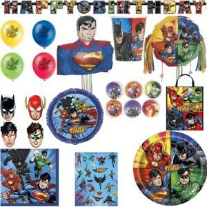 Justice League Die Liga der Gerechten Kindergeburtstag Deko Set Superman Batman